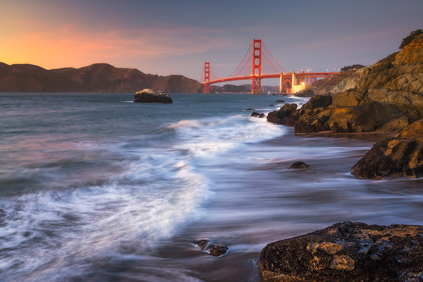 Evening at Baker Beach
