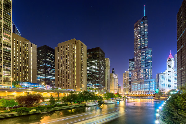 Evening on the Chicago River